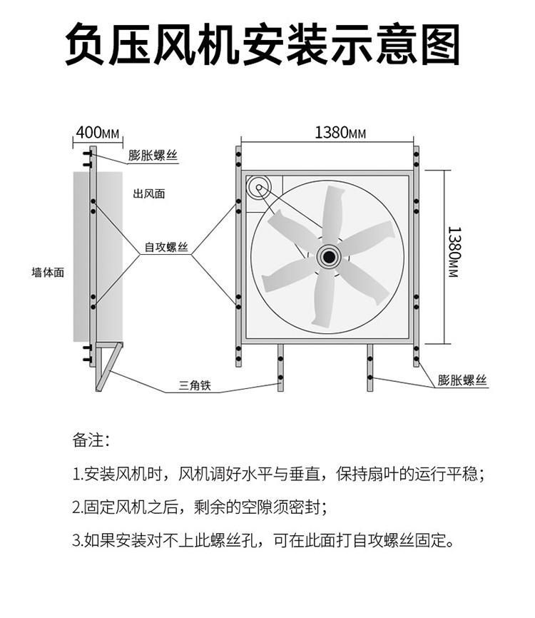 ZLG理工负压风机安装示意图