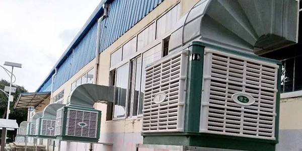 注塑车间厂房怎么降温——用[ZLG理工]冷风机效果显著