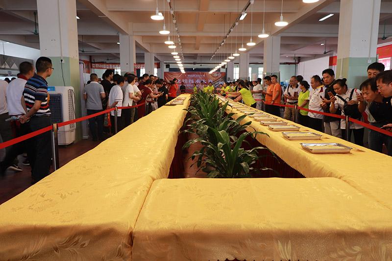 广西高校2018年烹饪技术大赛现场