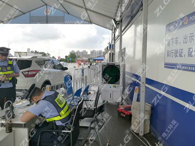 东盟博览会安全检查点使用移动冷风机