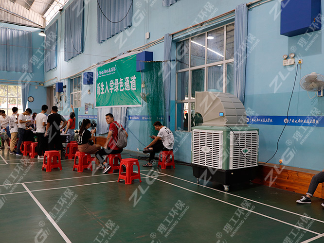 广西电力职业技术学院报名现场使用理工冷风机