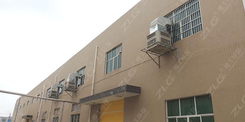 制鞋厂工业冷风机通风降温,环保空调厂家