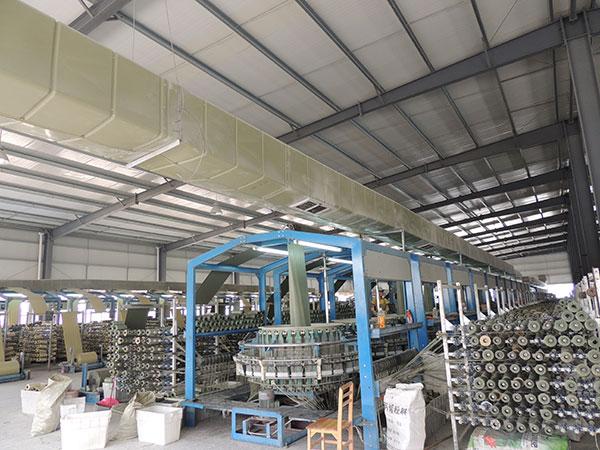 工业车间安装工业排风扇冷风机