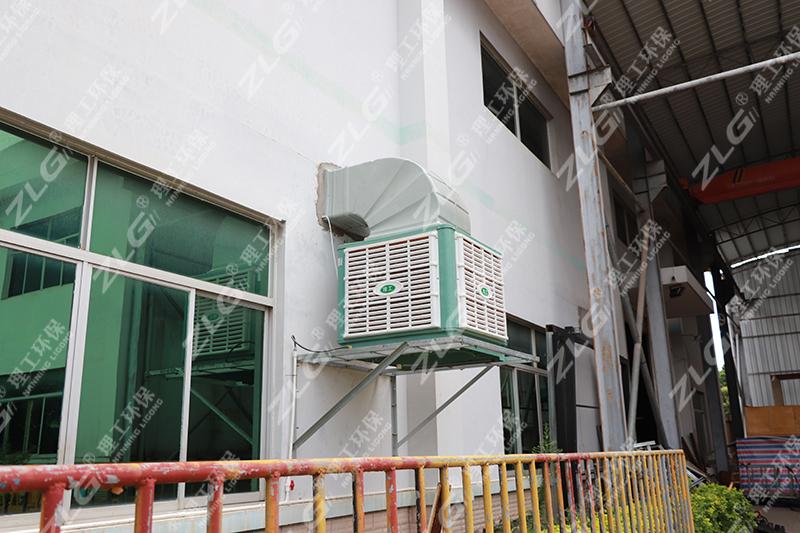 冷风机车间安装案例