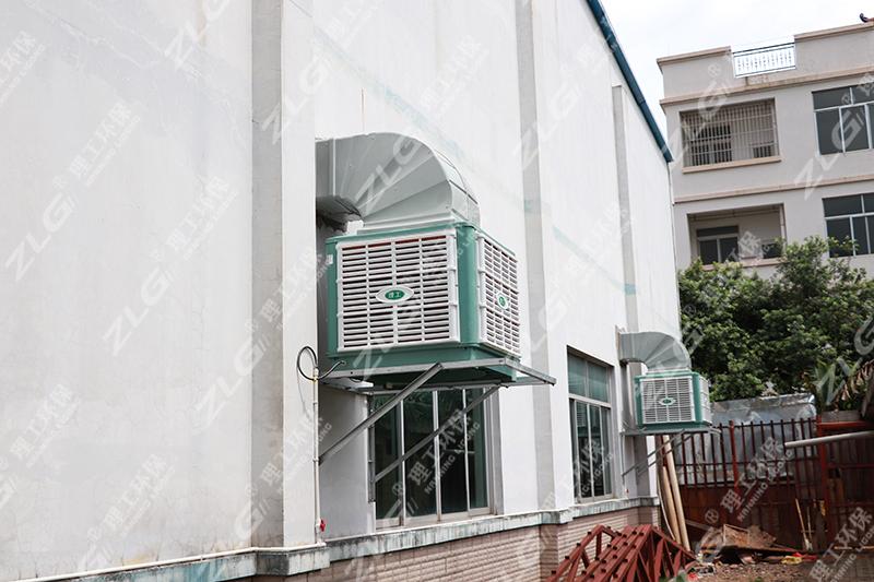 冷风机车间安装案例2