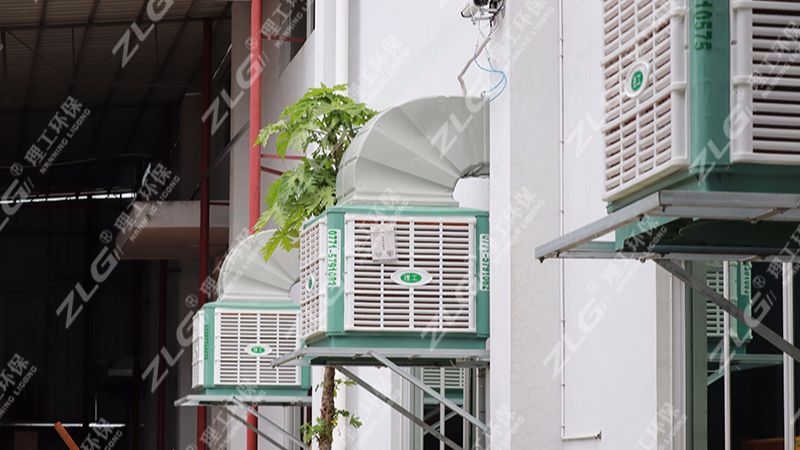广西华克电气设备有限公司组装车间安装ZLG理工环保空调