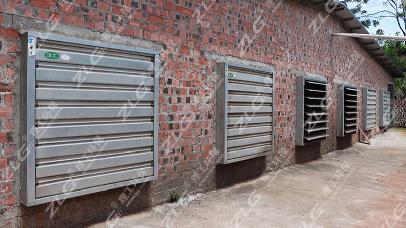 那马镇养猪场安装理工水帘负压风机水帘降温