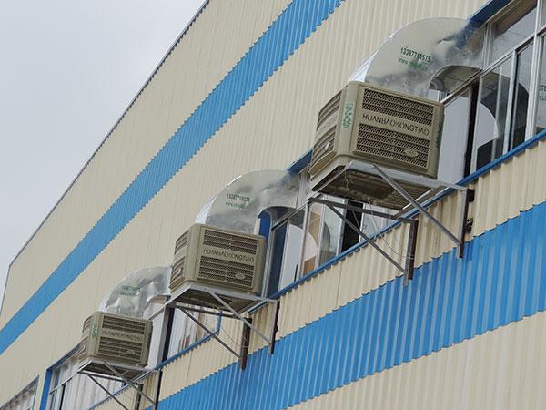 工业冷风机室内可以安装吗-免费提供降温方案[ZLG理工]