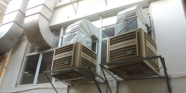 工厂车间不透气为什么要选择蒸发式降温环保空调[ZLG理工]