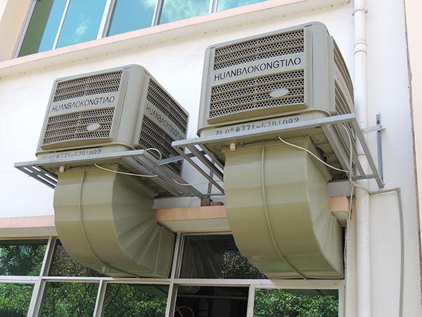 工业水冷风机保证了室内空气的质量