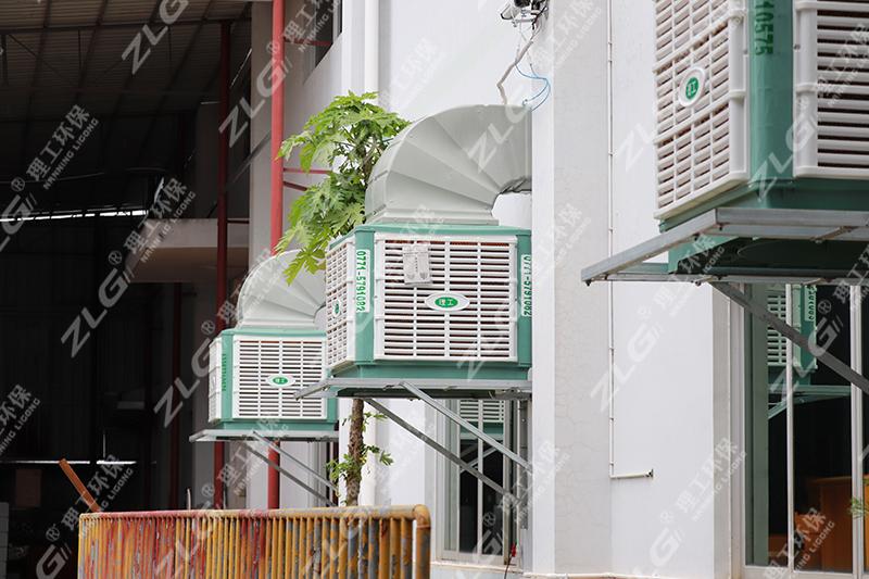 冷风机车间安装案例5