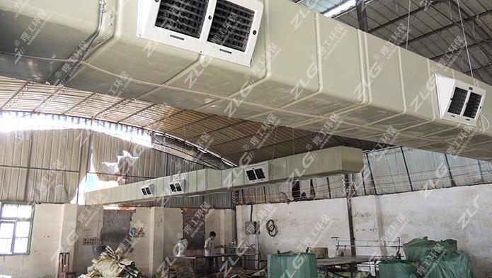 理工环保空调为南宁某塑料厂通风降温