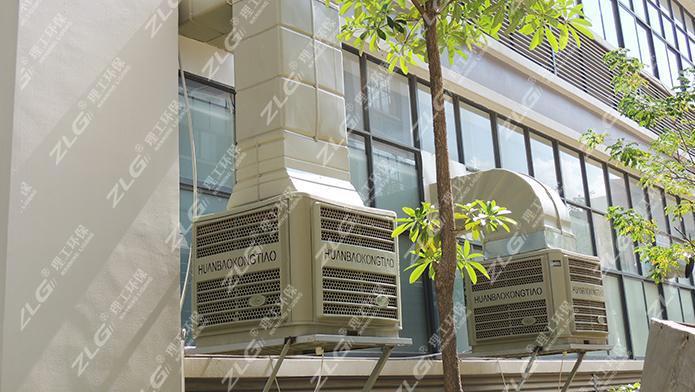 理工工业冷风机为丽汇工业园打造通风降温项目