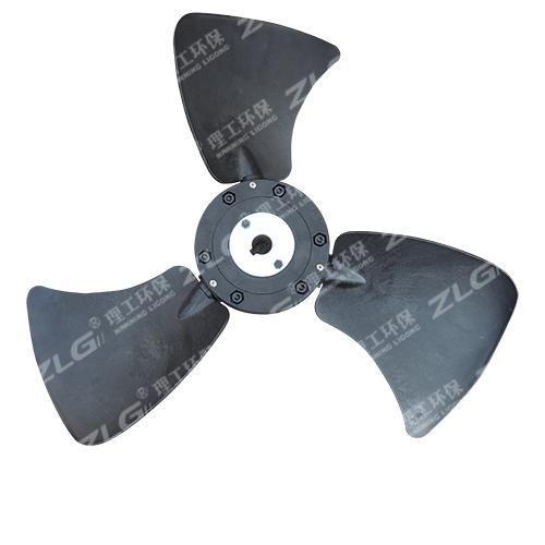 环保空调风叶黑色三叶扇