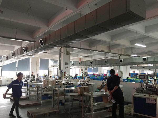 工业厂房降温设备管道