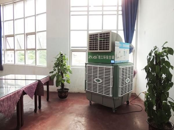 大型工业用移动冷风机生产商[ZLG理工]送去清凉