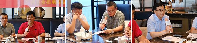 梁勇会长、党支部书记韦德盖、商会执行会长陈政培